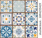 Collection Of 9 Colorful Tiles. ...