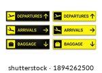 set of airport signboard....   Shutterstock .eps vector #1894262500