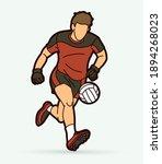gaelic football male player... | Shutterstock .eps vector #1894268023