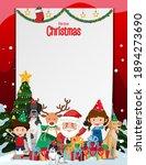 merry christmas  blank frame... | Shutterstock .eps vector #1894273690