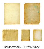 set of  old photo paper texture ... | Shutterstock . vector #189427829