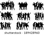 dancing silhouettes | Shutterstock .eps vector #189428960