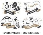 valentine label vector logo for ... | Shutterstock .eps vector #1894303339