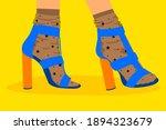 Bright Modern Shoe Illustration ...
