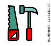 saw and hammer simple vector... | Shutterstock .eps vector #1894331770