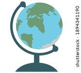 desktop globe icon  flat design.... | Shutterstock .eps vector #1894341190