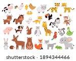 cartoon animals and birds... | Shutterstock .eps vector #1894344466
