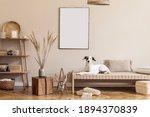 Boho Composition Of Living Room ...