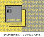 ultimate gray and illuminating  ... | Shutterstock .eps vector #1894387246
