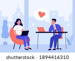 manager falling in love with... | Shutterstock .eps vector #1894416310