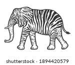 fictional animal zebra elephant....   Shutterstock .eps vector #1894420579