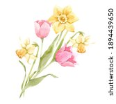 beautiful image with watercolor ... | Shutterstock . vector #1894439650