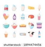 milk dairy product cartoon...   Shutterstock .eps vector #1894474456
