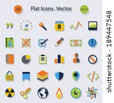 modern flat icons with long... | Shutterstock .eps vector #189447548
