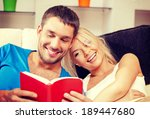 bright picture of happy couple... | Shutterstock . vector #189447680