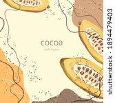 half a ripe cocoa. stylized...   Shutterstock .eps vector #1894479403