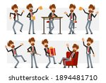 cartoon flat bearded... | Shutterstock .eps vector #1894481710
