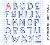 sketch hand drawn 3d doodle... | Shutterstock .eps vector #189449210