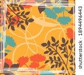 design for silk scarf  shawl ... | Shutterstock .eps vector #1894496443