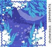 design for silk scarf  shawl ... | Shutterstock .eps vector #1894496476