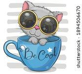 cute cartoon kitten with...   Shutterstock .eps vector #1894506670