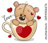 cute cartoon teddy bear is... | Shutterstock .eps vector #1894506676