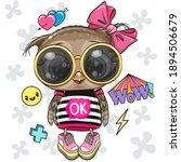 cool cartoon cute owl with sun...   Shutterstock .eps vector #1894506679
