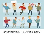 cartoon flat funny fat smiling... | Shutterstock .eps vector #1894511299