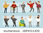 cartoon flat funny fat smiling... | Shutterstock .eps vector #1894511320