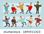 cartoon flat funny fat smiling... | Shutterstock .eps vector #1894511323