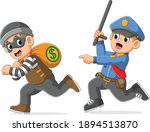 the police is pursue catch the... | Shutterstock .eps vector #1894513870