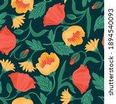 floral seamless pattern. vector ... | Shutterstock .eps vector #1894540093