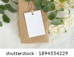 Thank you gift tag mockup for...