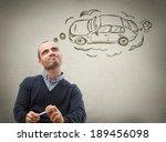 car credit concept. man... | Shutterstock . vector #189456098