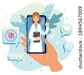doctor online communication... | Shutterstock .eps vector #1894567009