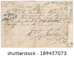 Old Letter With Handwritten...