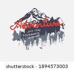 adventure slogan on mountain...   Shutterstock .eps vector #1894573003