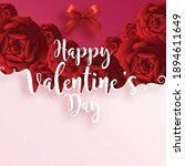 valentine's day greeting card... | Shutterstock .eps vector #1894611649