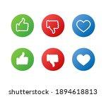 web icons. like  dislike and... | Shutterstock .eps vector #1894618813