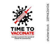 time to covid vaccinate icon.... | Shutterstock .eps vector #1894626436
