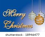merry christmas card. over a... | Shutterstock .eps vector #18946477