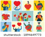 all you need is love. hands and ... | Shutterstock .eps vector #1894649773