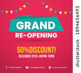 50  discount on grand reopening ... | Shutterstock .eps vector #1894656493