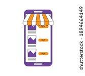 online store in smartphone... | Shutterstock .eps vector #1894664149