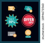 sale offer discount tags... | Shutterstock .eps vector #1894673560