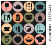 vector cooking and kitchen... | Shutterstock .eps vector #189471236