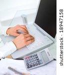 beautiful business woman is... | Shutterstock . vector #18947158