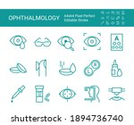 set of icons of ophthalmology.... | Shutterstock .eps vector #1894736740