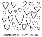 collection of outline grunge... | Shutterstock .eps vector #1894748803