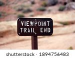 Trail End Sign With Desert...